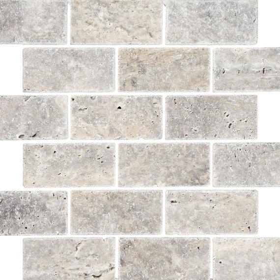 johnson natural mosaic series smst2a silver travertine brick 305x305x10mm