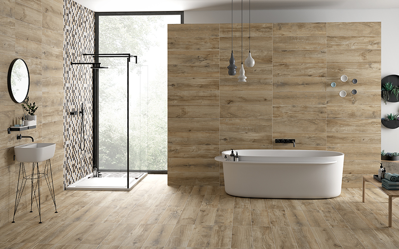 North Wind Wood Series – Natural Beige wood effect floor tiles