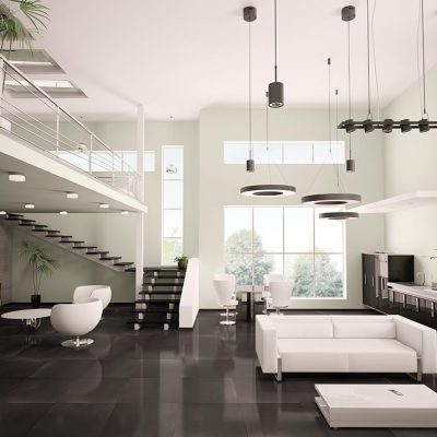 Azteca Smart Lux Porcelain Tiles Black