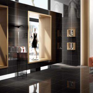 Azteca Smart Lux Porcelain Tiles Black