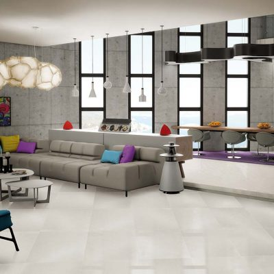 Azteca Smart Lux Porcelain Tiles White