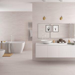 Pamesa Ceramica Reval Perla Plain Glazed Porcelain Wall and Floor Tile (613x303mm)
