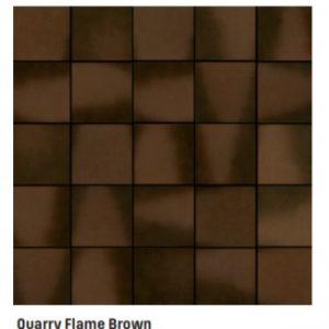 Gres De Aragon Flame Brown Quarry Tiles 149x149x12mm