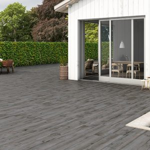 North Wind Wood Series Grey Floor Tile Example Use