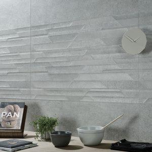 Amata Lux Grey Plain Ceramic Wall Tiles 295x595x10mm