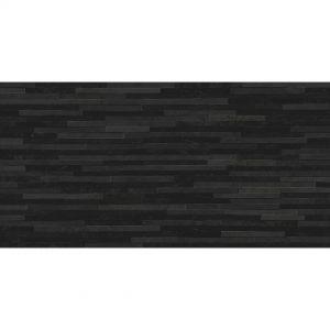 Azulev Direction Black Slate-Effect Ceramic Wall Tile