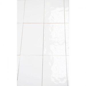 UK Tiles Value Bumpy Gloss White Ceramic Gloss