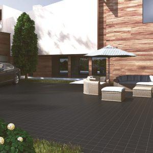 Gres De Aragon Black REX Quarry Tiles