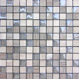 Grey Marble & Bubble Gloss Mosaic  tiles