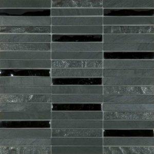 Skyline Marble Glass Mix Black tiles