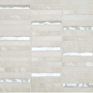Skyline Marble Glass Mix White tiles