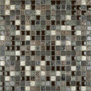 CE Decor Series Brown Marble Glass Mosaic tiles