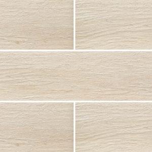 Grove Series Wood Effect White Porcelain Floor Tiles