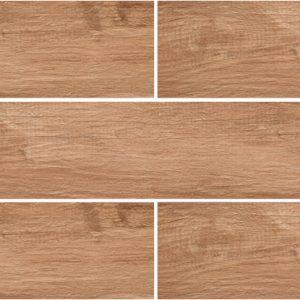 Grove Series Wood Effect Brown Oak Porcelain Floor Tiles