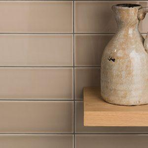 Johnson Savoy SAVO3A Brick Grain Gloss Ceramic Wall Tile (300x100mm)